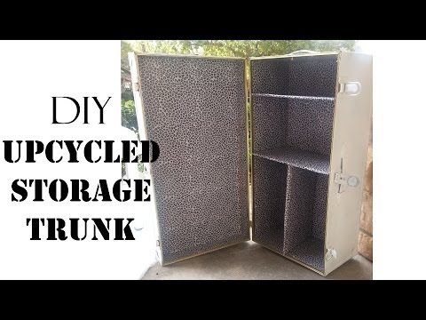 Diy Upcycled Storage Trunk Sugarstilettosstyle Youtube