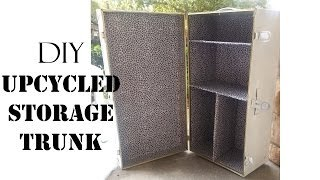 Diy Upcycled Storage Trunk- Sugarstilettosstyle