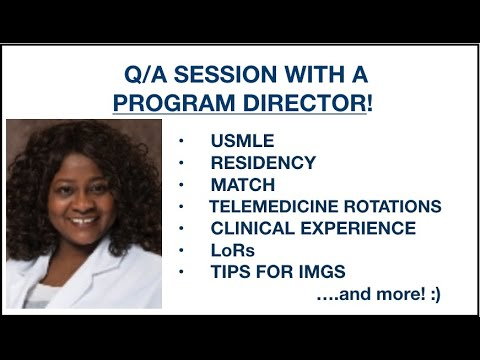 Q/A Session w a Program Recruiter! USMLE, Match, Telehealth Rotations, LoRs, Research for IMG & more from YouTube · Duration:  1 hour 6 minutes 50 seconds