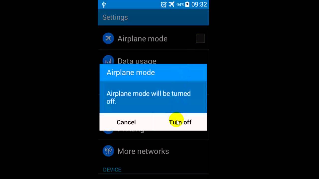 How to turn off Airplane mode in Android phone - YouTube
