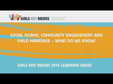 Social norms, community engagement and child marriage: What do we know?