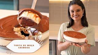 MOÇA CREMOSA A MELHOR TORTA DE TRAVESSA QUE JA COMI SUPER FACIL