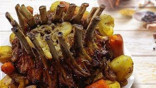 Корона из свиной корейки - праздничное мясное блюдо