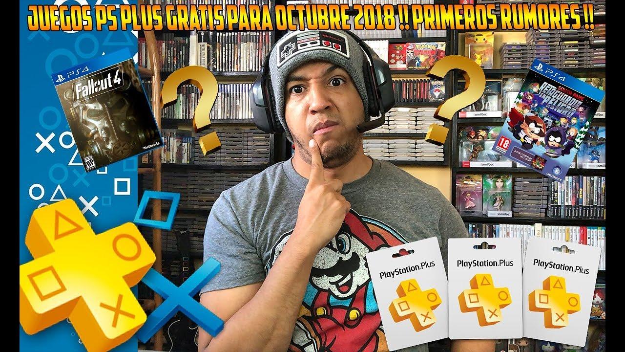 Juegos Gratis Ps Plus Octubre 2018 Rumores Playstation Ps4