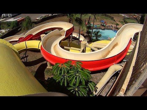 Yellow Waianae Coaster Water Slide at Wet 'n' Wild Hawaii