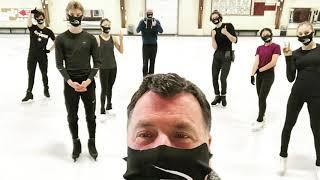 Орсер выложил фото с первых тренировок  Ханю и Медведевой  на них нет