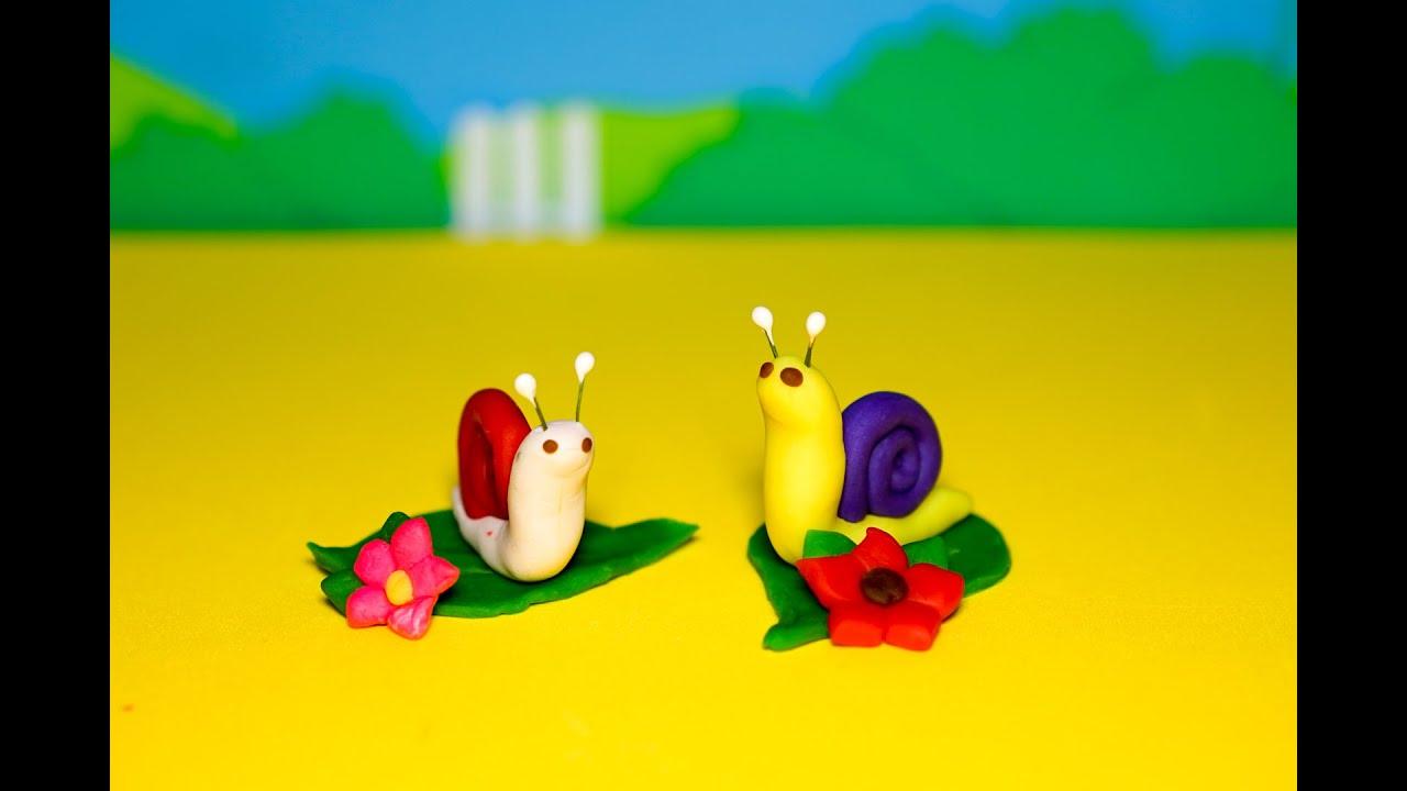 Đồ chơi đất sét Playdoh nặn  2 chú ốc sên xinh xinh, đáng yêu, dễ thương