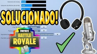 FORTNITE - Solucion Chat de voz ( No se escucha)