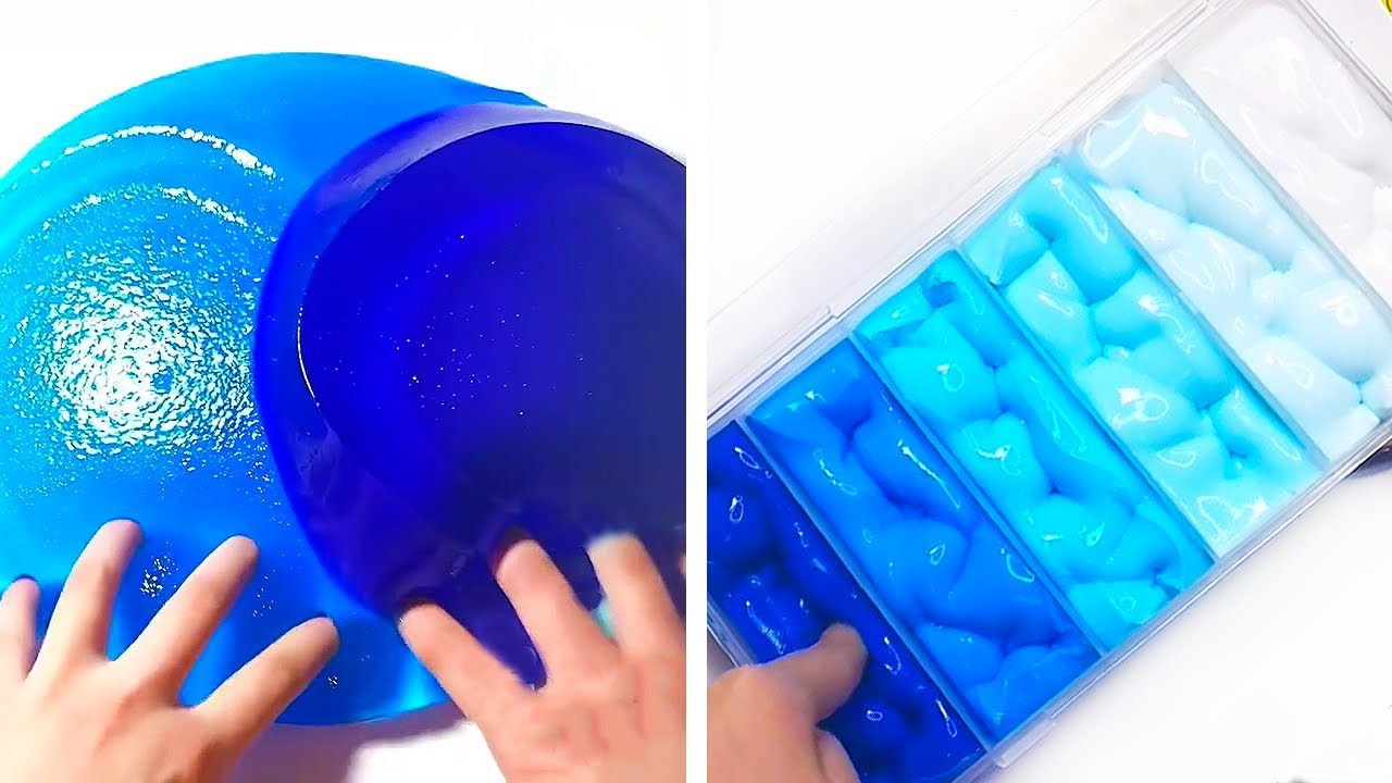 Only Blue Slime ASMR Videos   The Most Oddly Satisfying ...