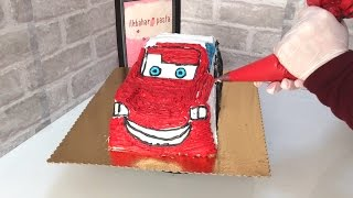 Şimşek Mcqueen Pasta Yapımı-Lightning Mcqueen Cake Making
