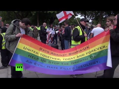 Far-right 'Gays Against Sharia' protest met with counter-demo in Bristol