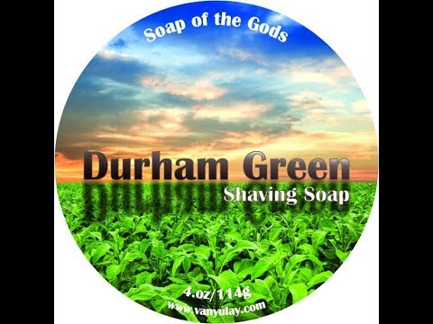 Van Yulay Durham Green, PAA Bakelite OC Slant, Shaving with Rich Custom Brush