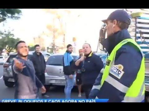 Motorista se envolve em briga com agente de transporte por conta da greve