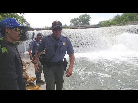 The Game Warden Show Up While Wipers Fishing. EP 85