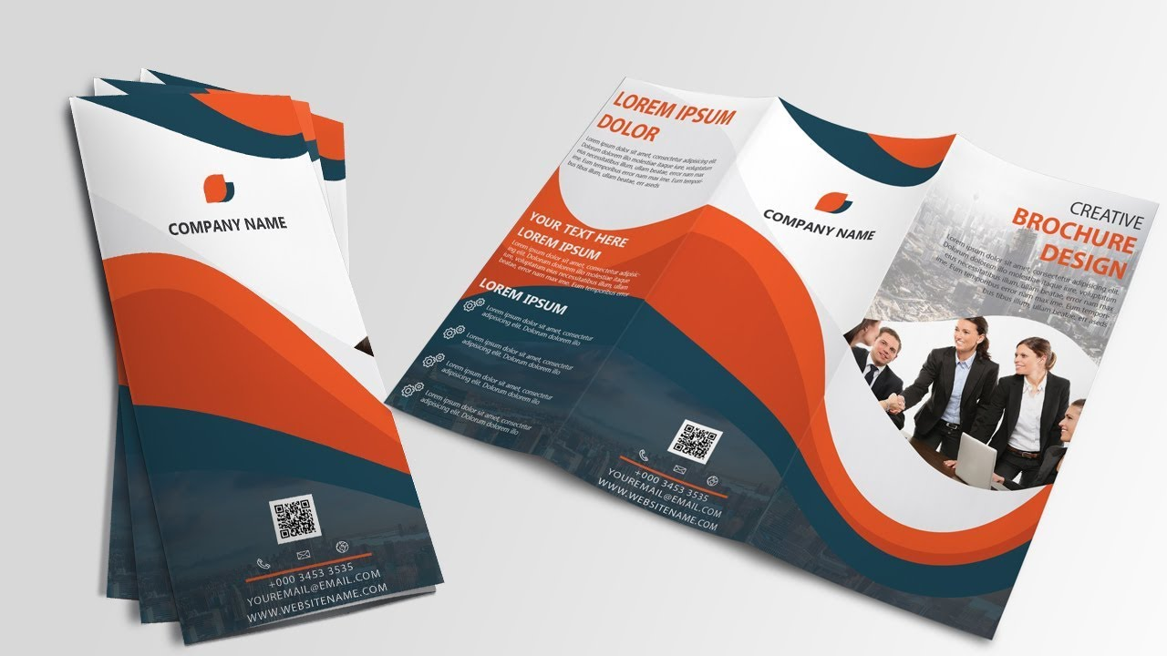 PART 1 Tutorial Tri Fold Brochure Design in Illustrator