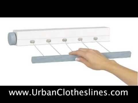 Retractable 5 Line Mini Dryer   YouTube