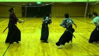 (プロダクション)東京ドラマハウス殺陣クラス稽古風景2012・06