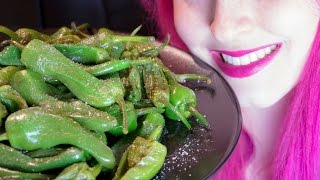 ASMR: Spanish Padrón Peppers | Crunchy Pepper Heaven ~ Relaxing Eating Sounds [No Talking | Vegan] 😻