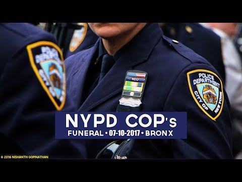 Funeral for slain NYPD officer Miosotis Familia - Grand Concourse, Bronx
