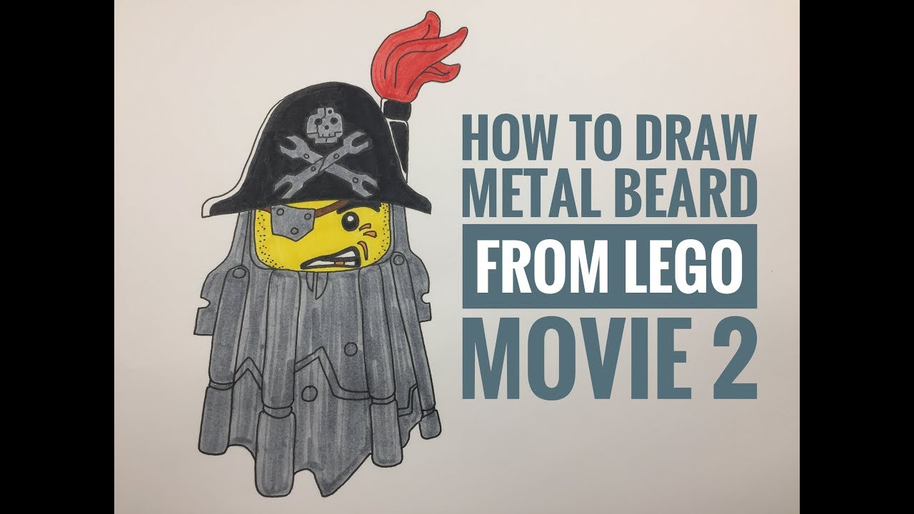 how to draw metal beard from lego movie 2  youtube