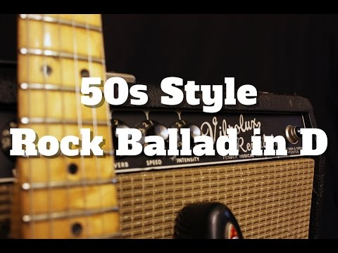 50s Style Rock Ballad in D (Backing track)