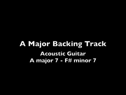 A Major Acoustic Guitar Backing Track