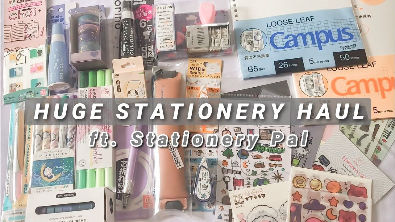 Huge Stationery Haul ft. Stationery Pal | Indonesia