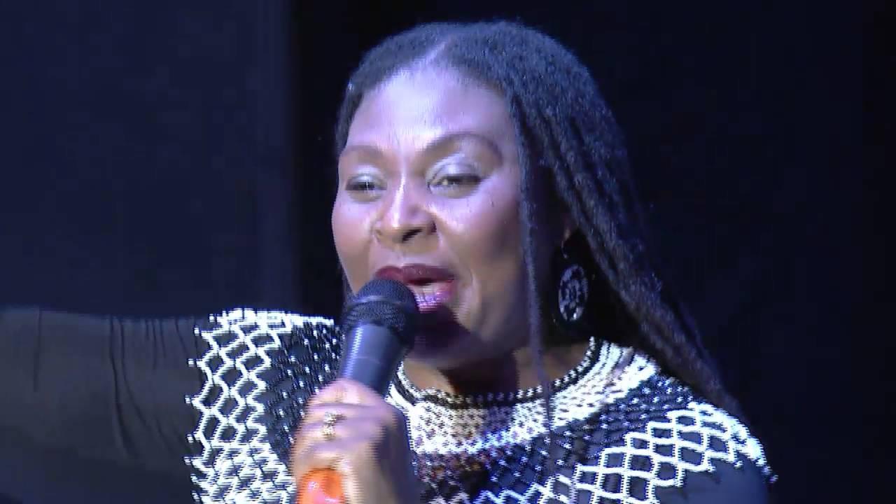 Yvonne ChakaChaka performs at #iamkansiime show. African comedy.