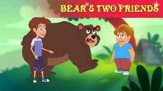 भालू और धोकेबाज़ दोस्त - Hindi Kahaniya | The Bear & Two Friends | Moral Stories By Baby Hazel