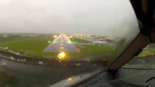 B767 Landing in a Tropical Storm GO PRO