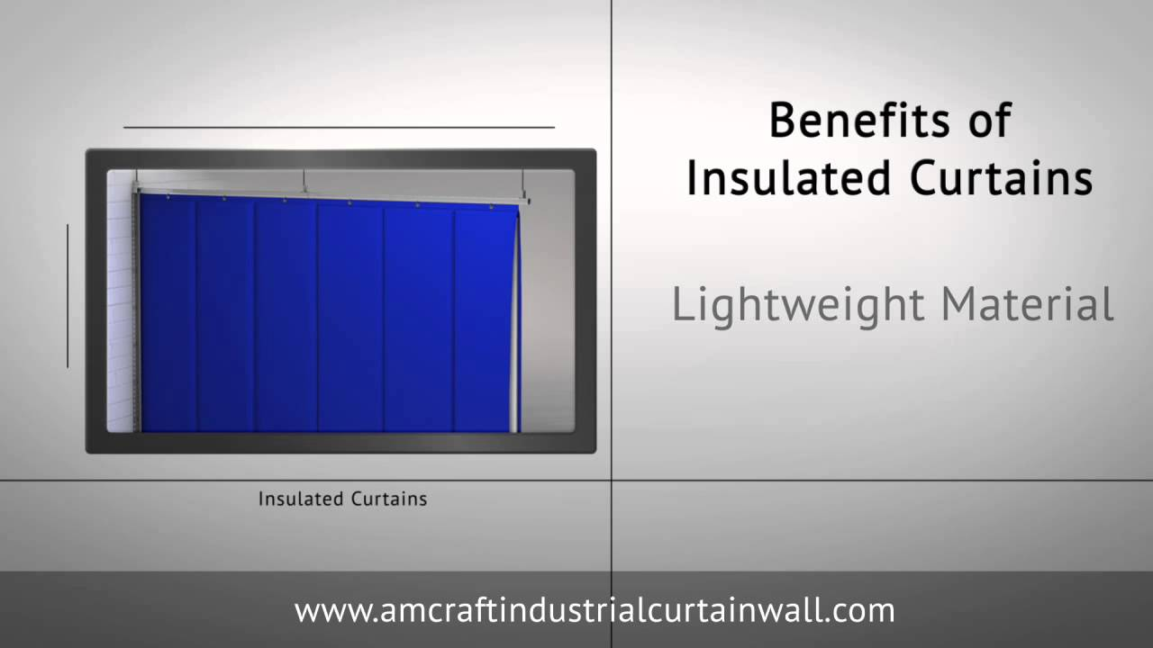 Insulated Industrial Curtains  Vinyl  PVC Dividers  YouTube