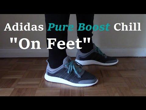 fa52b17c0261e Adidas Pure Boost Chill Grey On Feet - YouTube