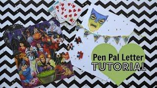 Pen Pal Letter Tutorial, Disney Villain Theme