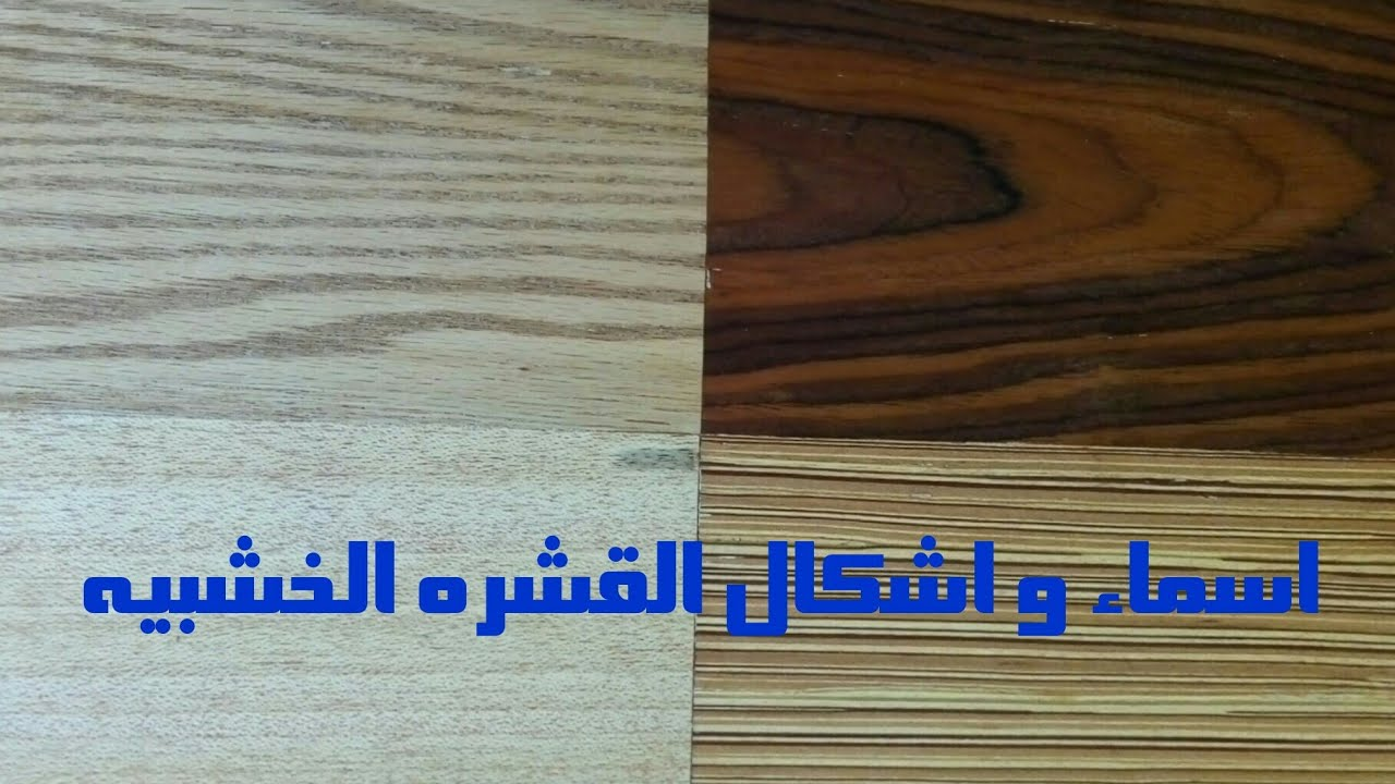 انواع القشره الخشبيه الطبيعيه واسمائها Youtube