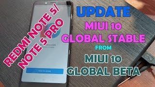 Update MIUI 10 Global Stable 10.0.1.0 Redmi Note 5 Dari MIUI 10 Global Beta