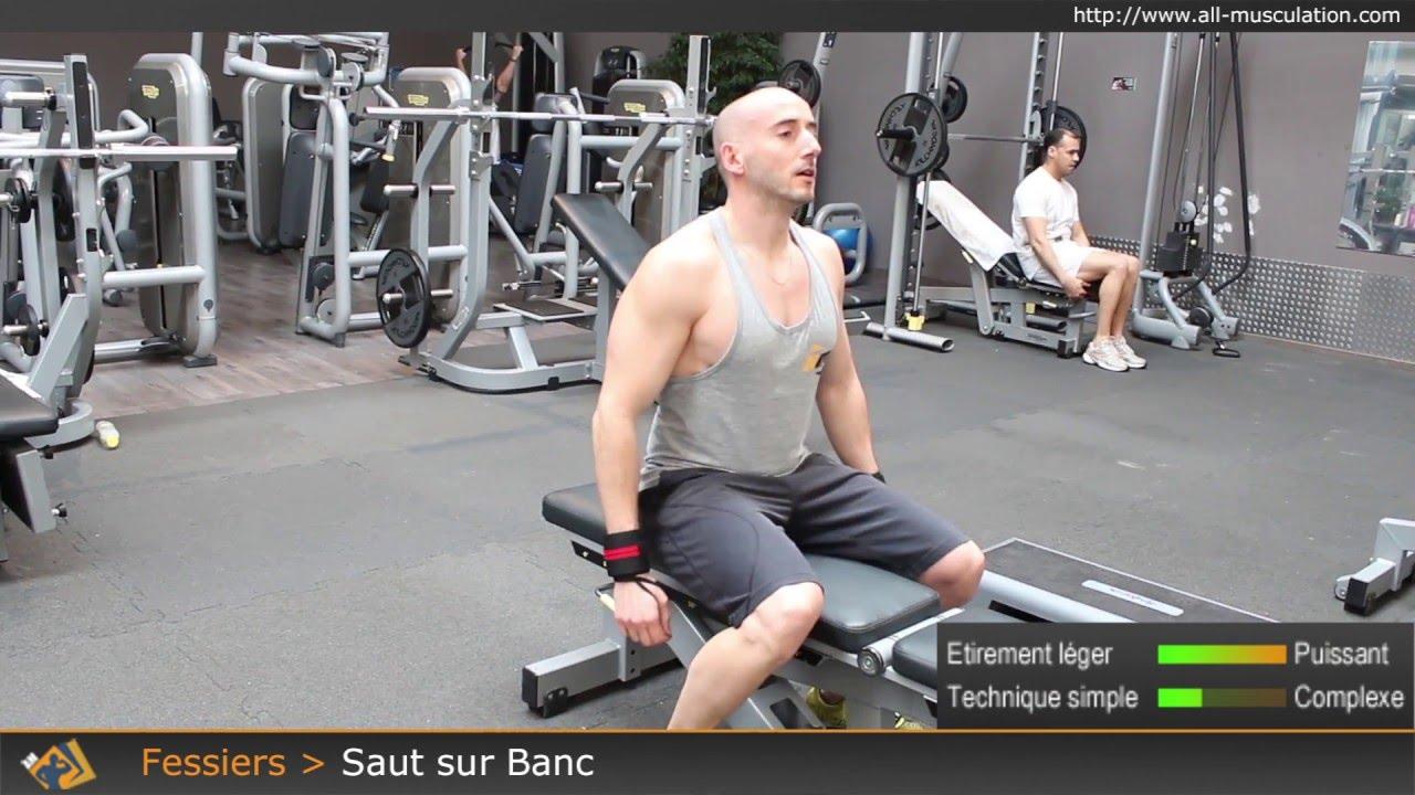 banc de musculation exercice fessier