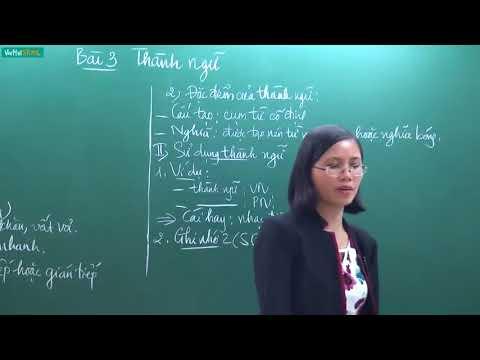 [Học Online] Thành ngữ _ Ngữ văn 7 _ TS Nguyễn Thị Vân Anh