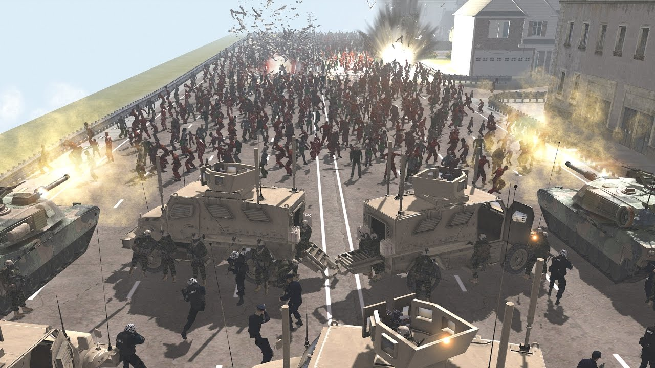 MASSIVE ZOMBIE INVASION - Red Rising MOD