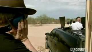 Minigun Shooting Fish in A Barrel