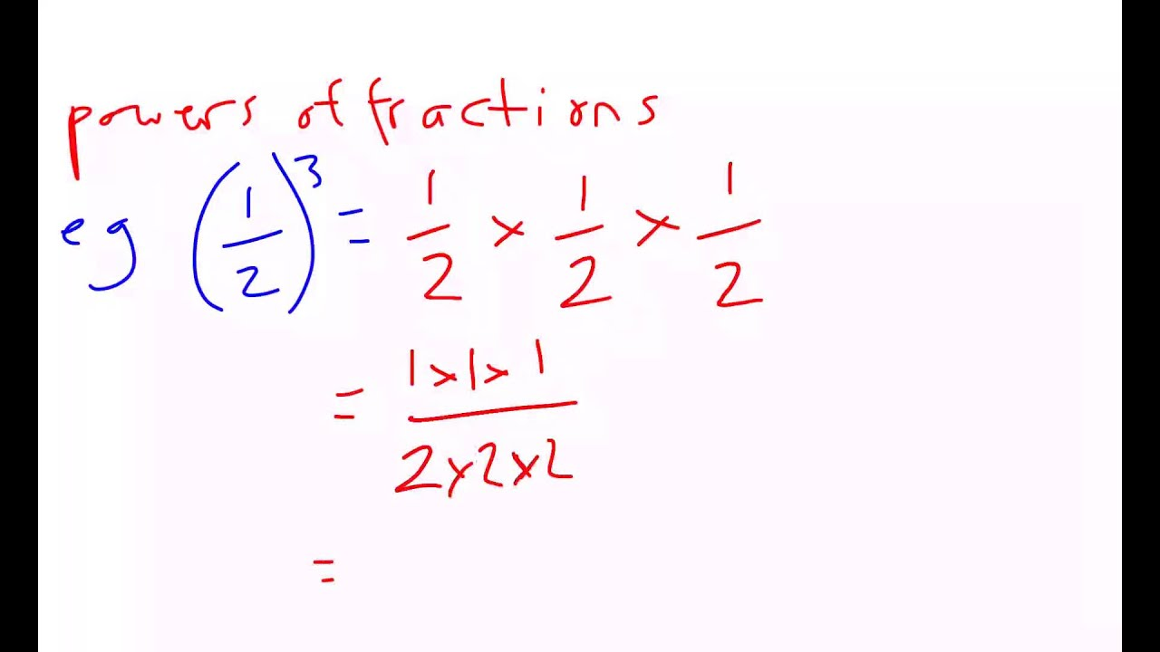 how to work out fractional powers