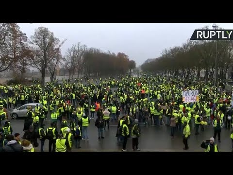 Yellow Vests protest in Bourge