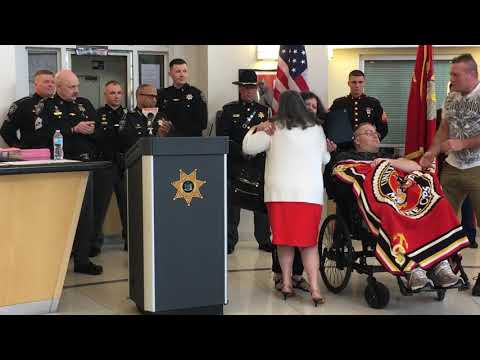Ulster County sheriff honors wounded Marine Eddie Ryan