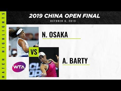 Naomi Osaka vs. Ashleigh Barty | 2019 China Open Final | WTA Highlights