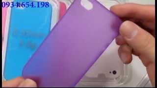 Ốp lưng iPhone nhựa siêu mỏng 0,35mm cho iphone 5/5s & 4/4s