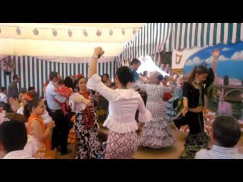 Feria de Sevilla 2009.-Gracia Montes : Farolillos encendidos : Sevillanas.