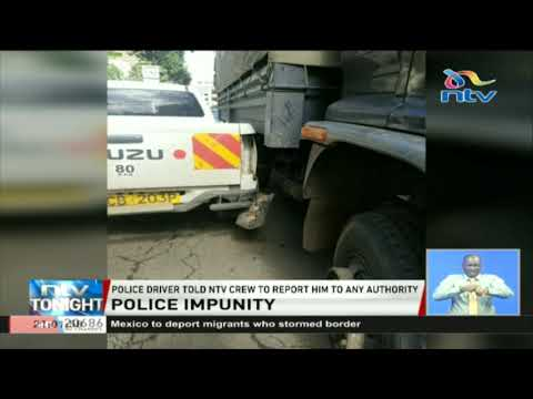 A Police officer hit a Nation media group vehicle in Nairobi CBD and drove away