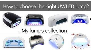 UV vs LED lamps for gel nail polish, beginners and pros + my nail lamp collection