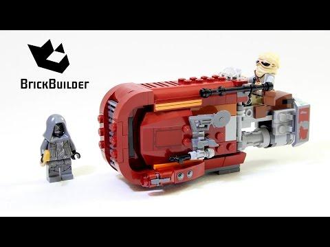 Lego Star Wars 75099 Reys Speeder Lego Speed Build Youtube
