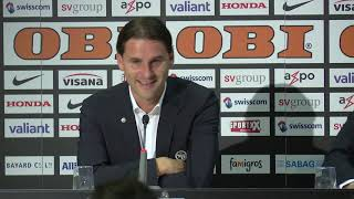 Pressekonferenz nach YB - FC Basel (7:1)