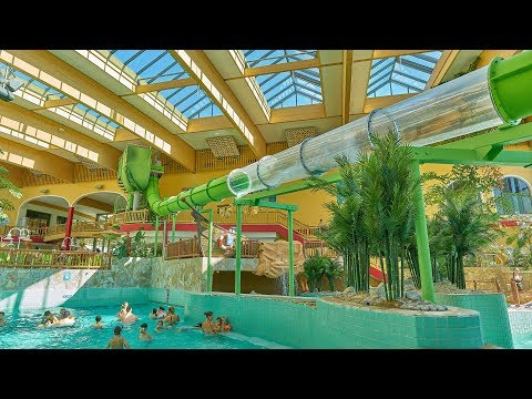 Green Kick Water Slide at AquaMagis